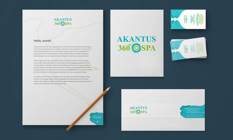Branding Akantus 360 spa