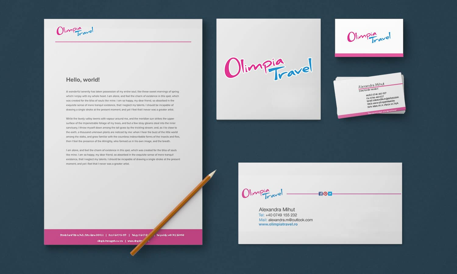 Branding Olimpia Travel