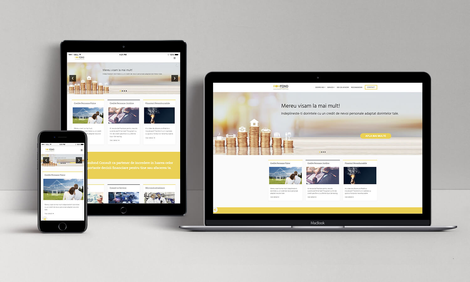 Website Romfond Consult